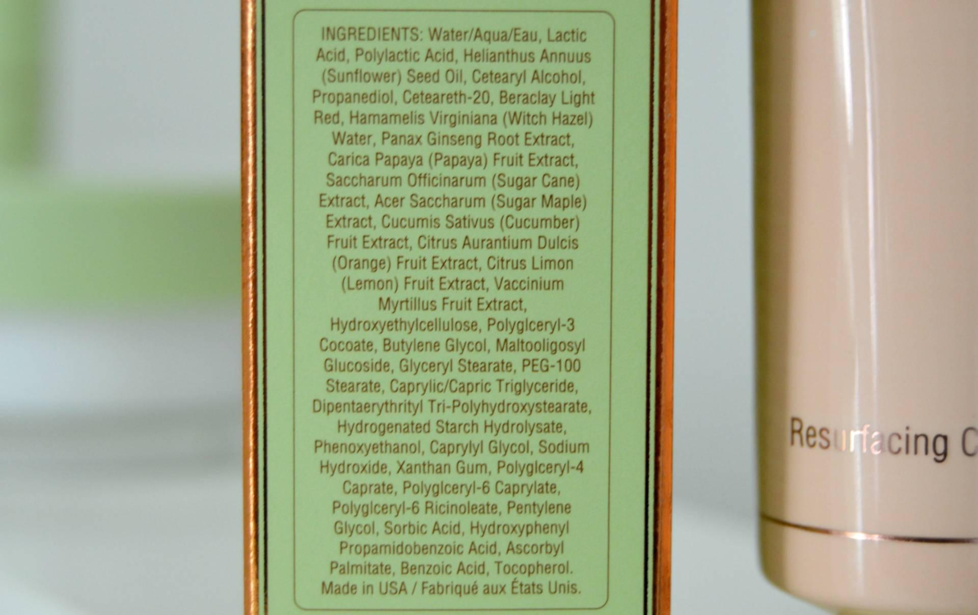 Pixi Peel And Polish Ingredients