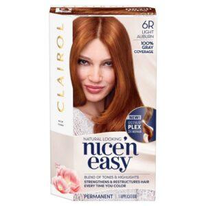 Clairol Nice'n Easy Perfect 10 Permanent Hair Color, 6R Light Auburn