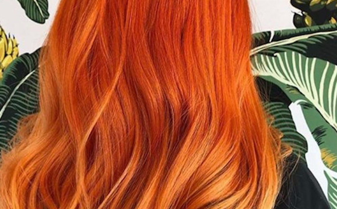 Girl with Copper Hair Dye on hair
