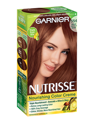 Garnier Nutrisse Creme Colour, Chestnut Auburn