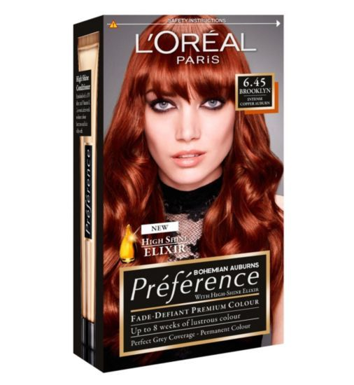 Preference Infinia Hair Dye, Brooklyn Intense Copper Auburn